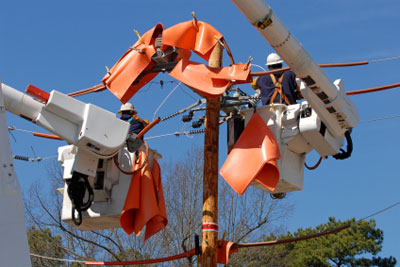 Poletop Electrical utility safety procedures